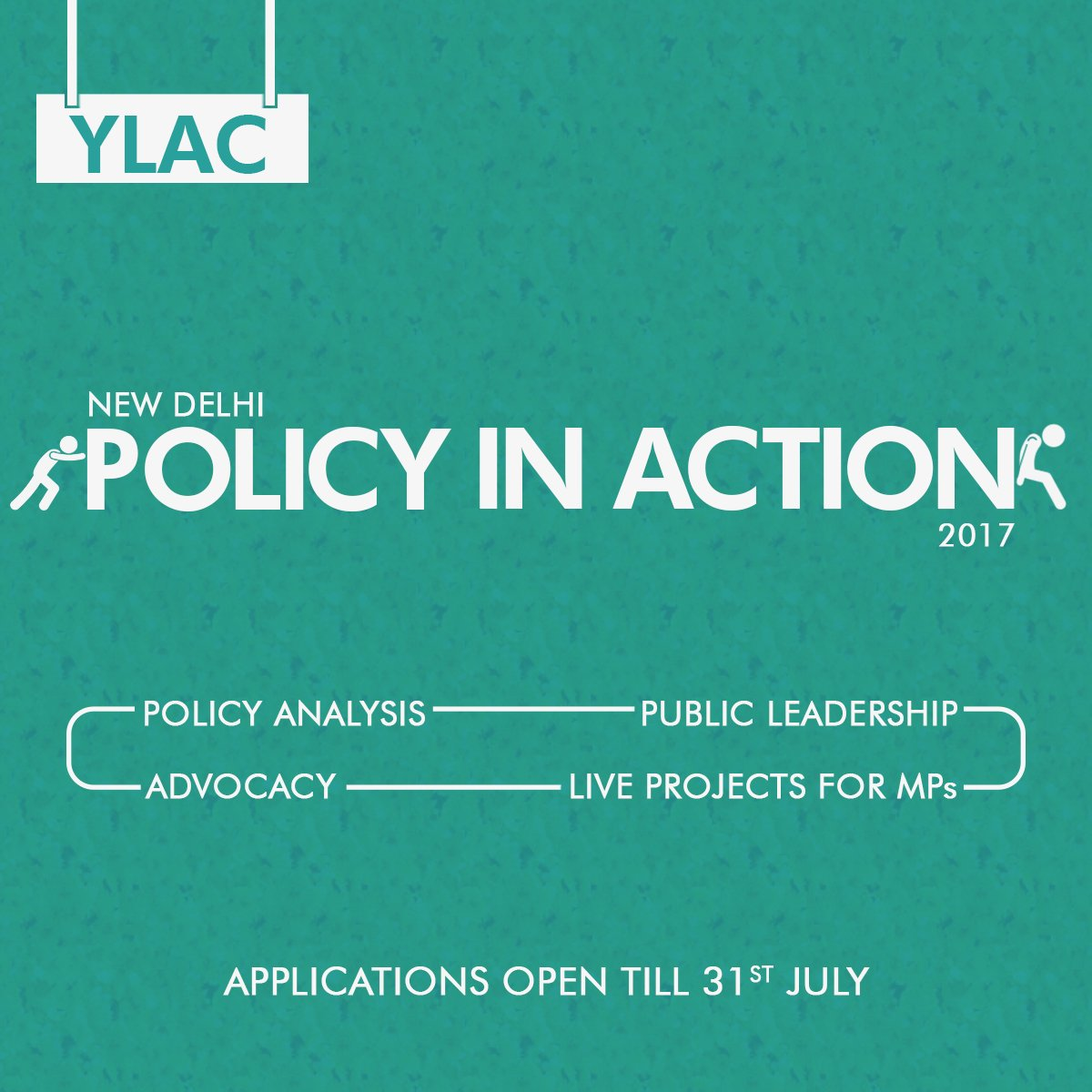 YLAC India's Policy in Action Program: Work with MPs [Aug 12 – Sept 10, New Delhi]: Apply by July 31