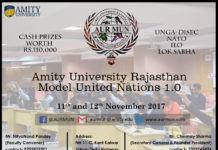 AUR MUN: Amity University Rajasthan Model United Nations 1.0