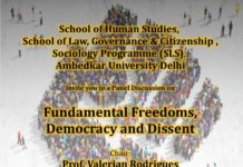 Ambedkar University's Panel Discussion on Fundamental Freedoms Democracy and Dissent