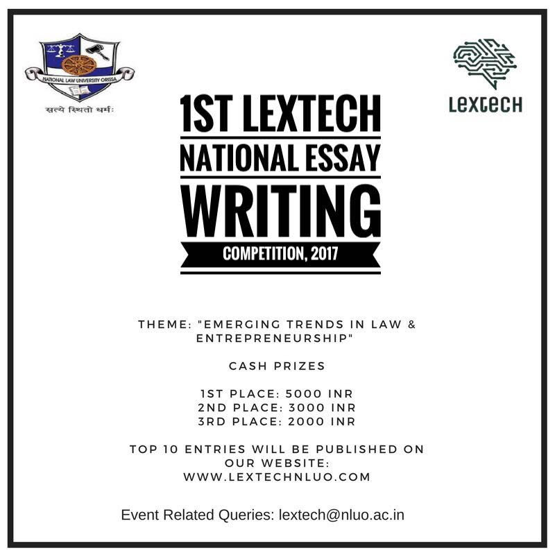 1st Lextech National Essay Competition