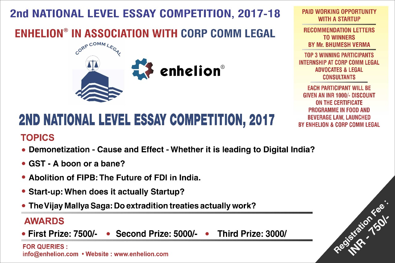 legal essay writing competitions india Writing competitions offer students the opportunity to publish their writing, gain   aclm student writing competitions brogdon champion law school essay.