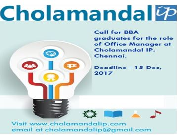 Cholamandal IP BBA fresher Job