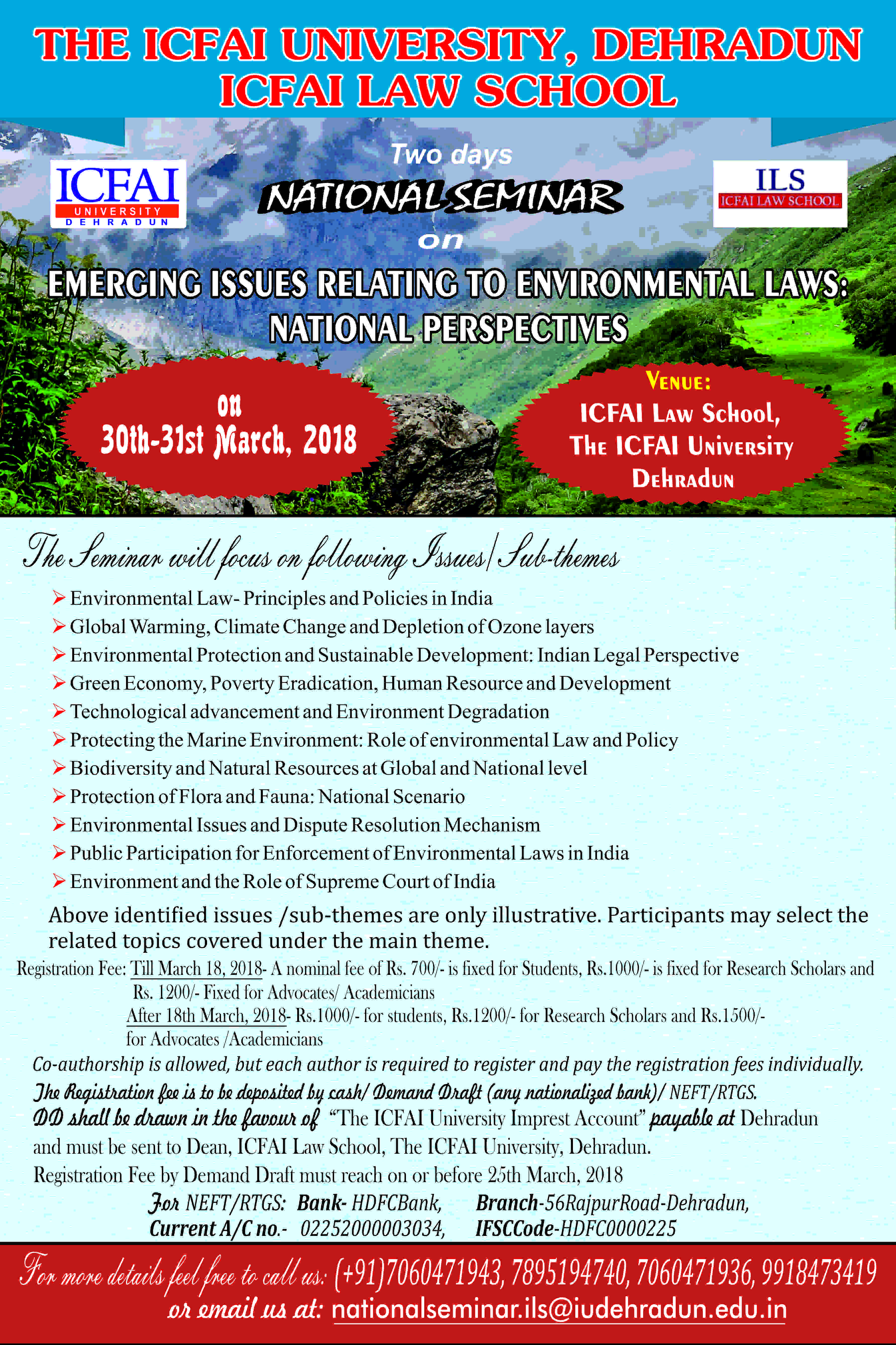 ICFAI Conference Environment Laws