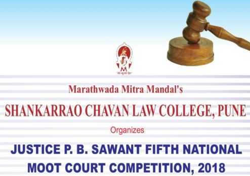 Justice P.B. Sawant 5th National Moot @ Shankarrao Chavan Law College, Pune [Feb 3-4]: Register by Jan 15