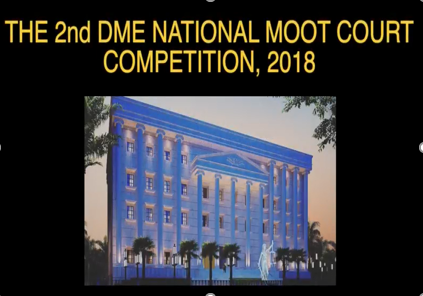 DME Moot Court Competition 2018 Report
