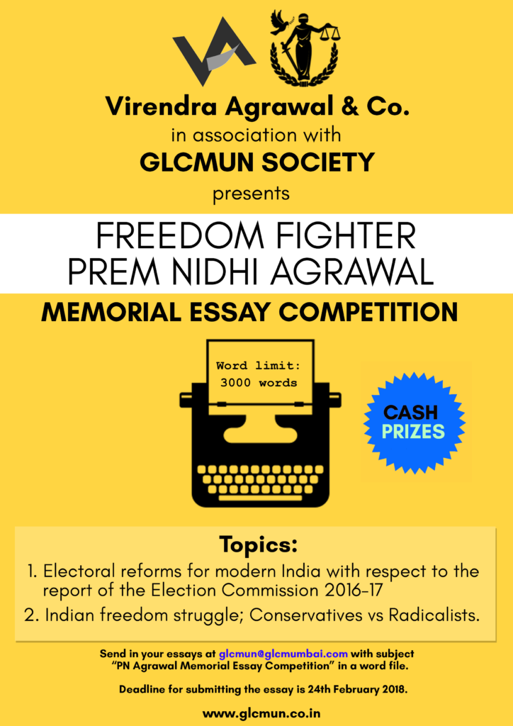 GLCMUN Essay Competition