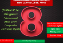 Justice PN Bhagwati Moot 2018 Pune