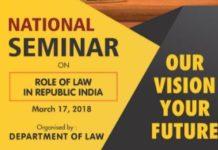 Prestige Institute Gwalior Seminar Role of Law in Republic India