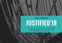 Delhi University Justified Moot 2018