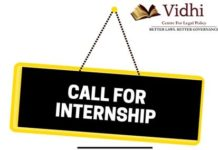 Vidhi Centre Legal Policy Bengaluru internship
