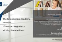 master negotiator international essay competition
