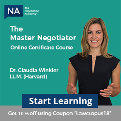 Master Negotiator Course Sep 2018