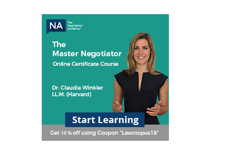 Necademy Master negotiator course