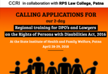 Training Rights of Persons with Disabilities Act Patna