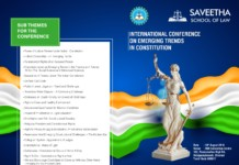 Emerging Trends Constitution conference Saveetha Chennai