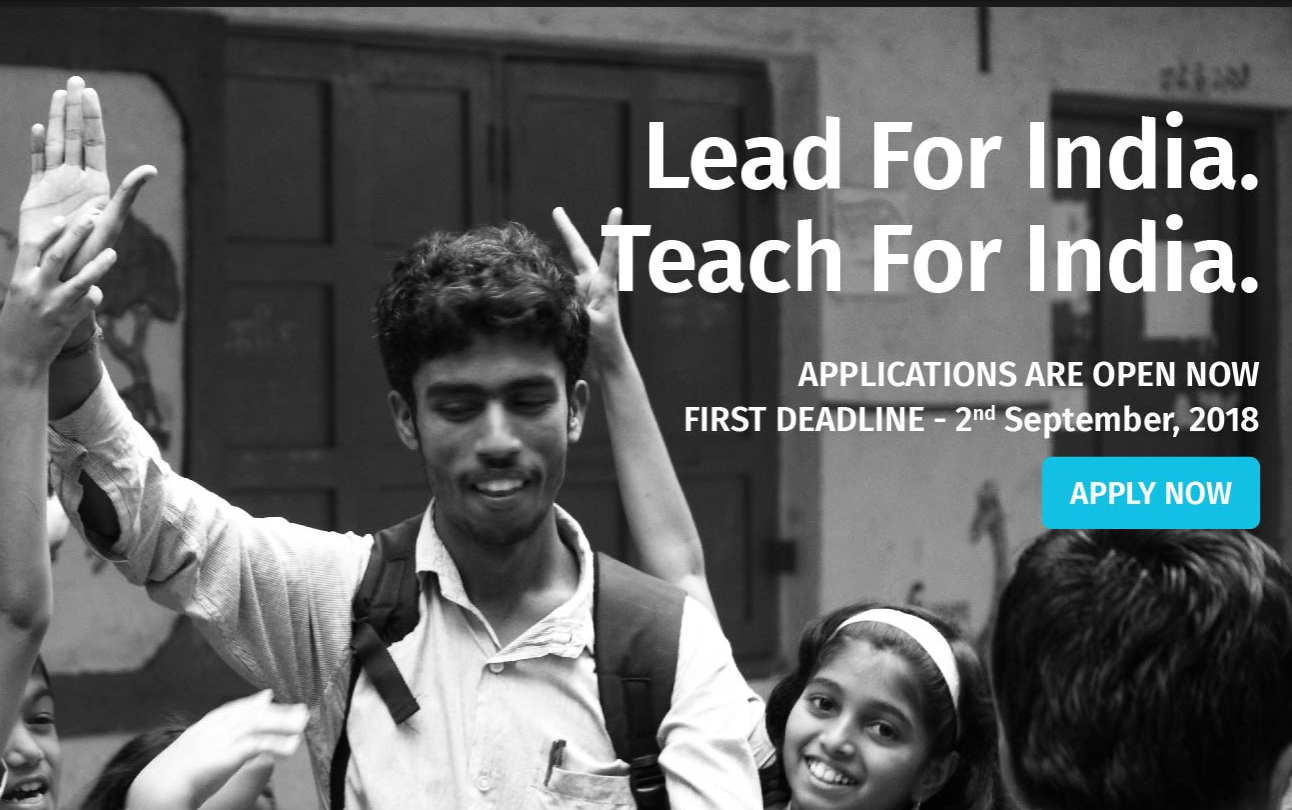 Teach for India Fellowships 2018-20