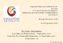 Galgotias University National Moot 2018