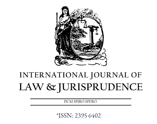 CfP: International Journal of Law & Jurisprudence [Sept 2019 Issue]: Publication Fee Rs. 1500; Submit by Aug 31