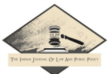 Indian Journal of Law and Public Policy Volume V Issue I