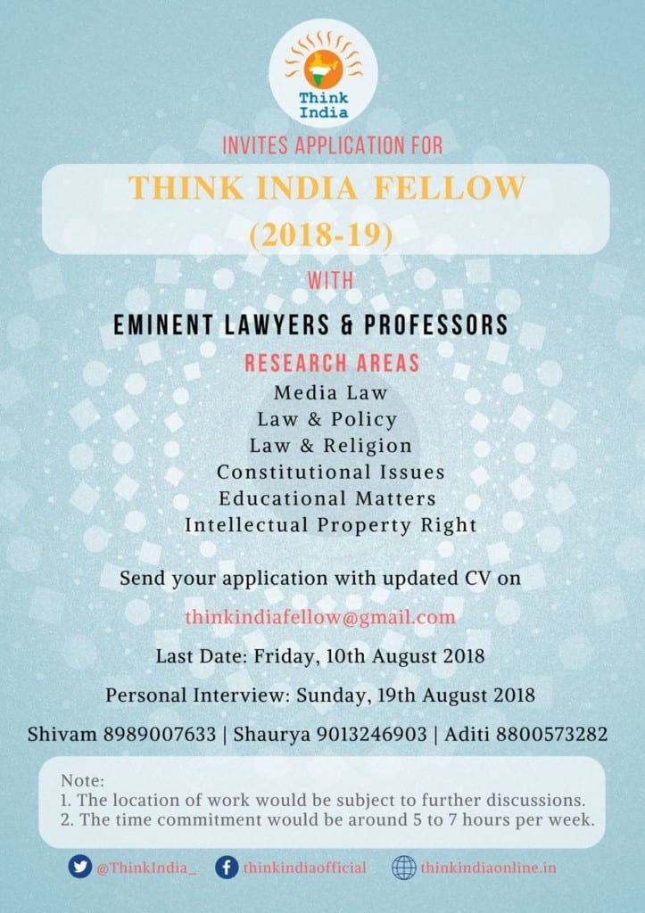 Think India Fellowship international law