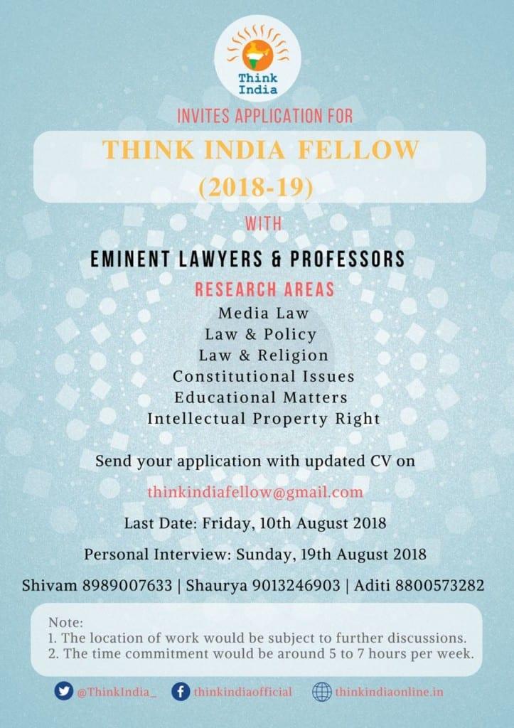 Think India Fellowship international law