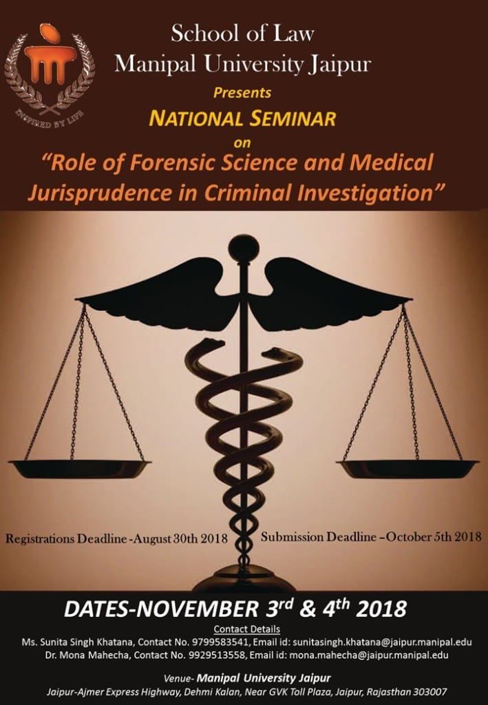 Role of Forensic Science Medical Jurisprudence Seminar Jaipur
