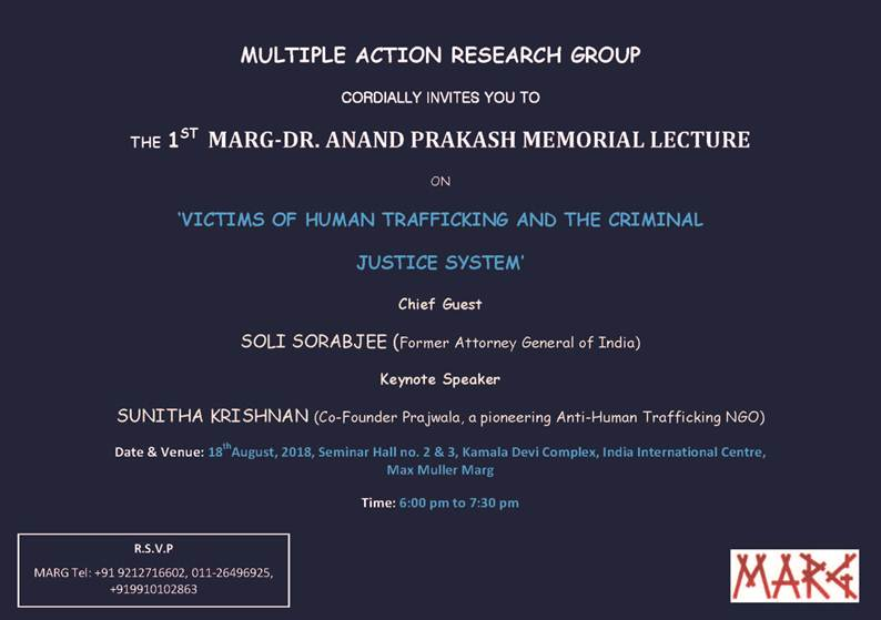 Victims of Human Trafficking Lecture Delhi