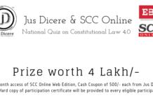 Jus Dicere & SCC Online National Quiz Constitutional Law