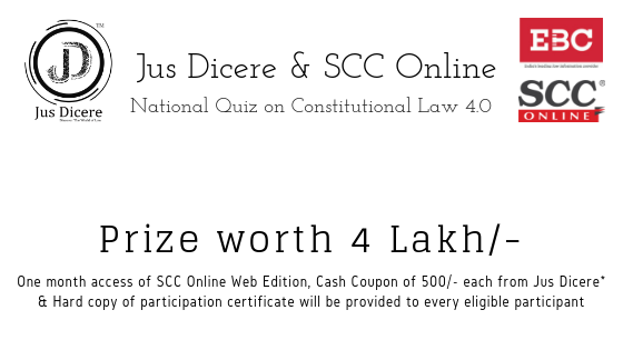 Jus Dicere & SCC Online National Quiz Constitutional Law