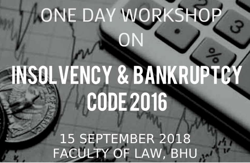 Workshop Insolvency Bankruptcy Code BHU Varanasi