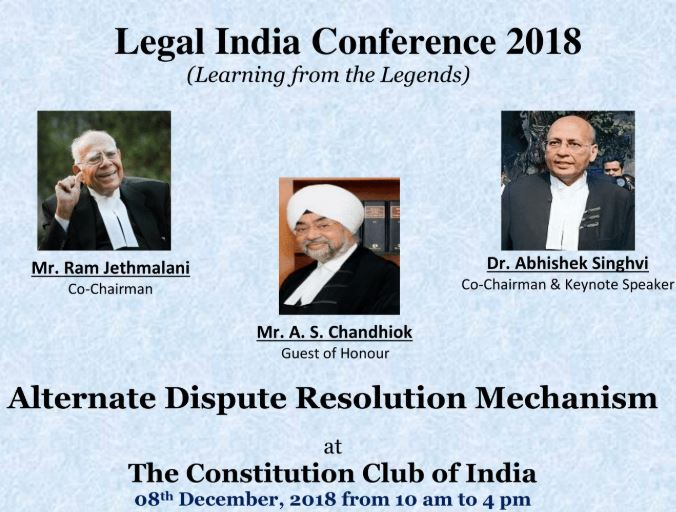 Conference alternate dispute resolution mechanism Delhi