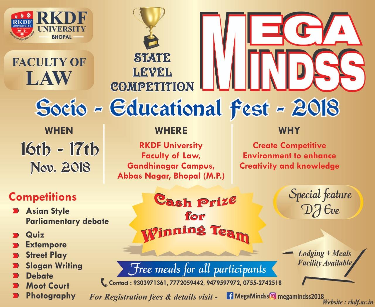 MEgamindss fest RKDF university bhopal
