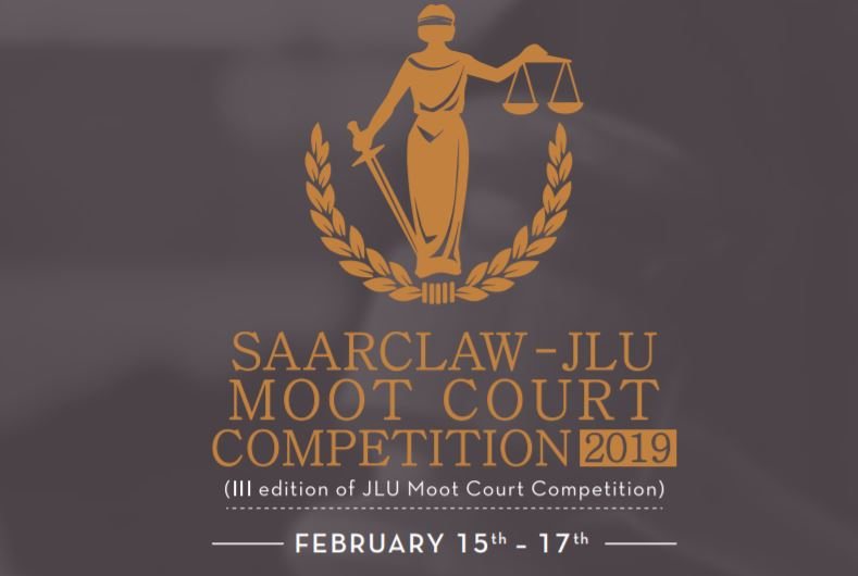 SAARCLAW- Jagran Lakecity University Moot  Court 2019 [Feb 15-17, Bhopal]: Prizes worth Rs. 3.25 Lakhs; Register by Jan 15.