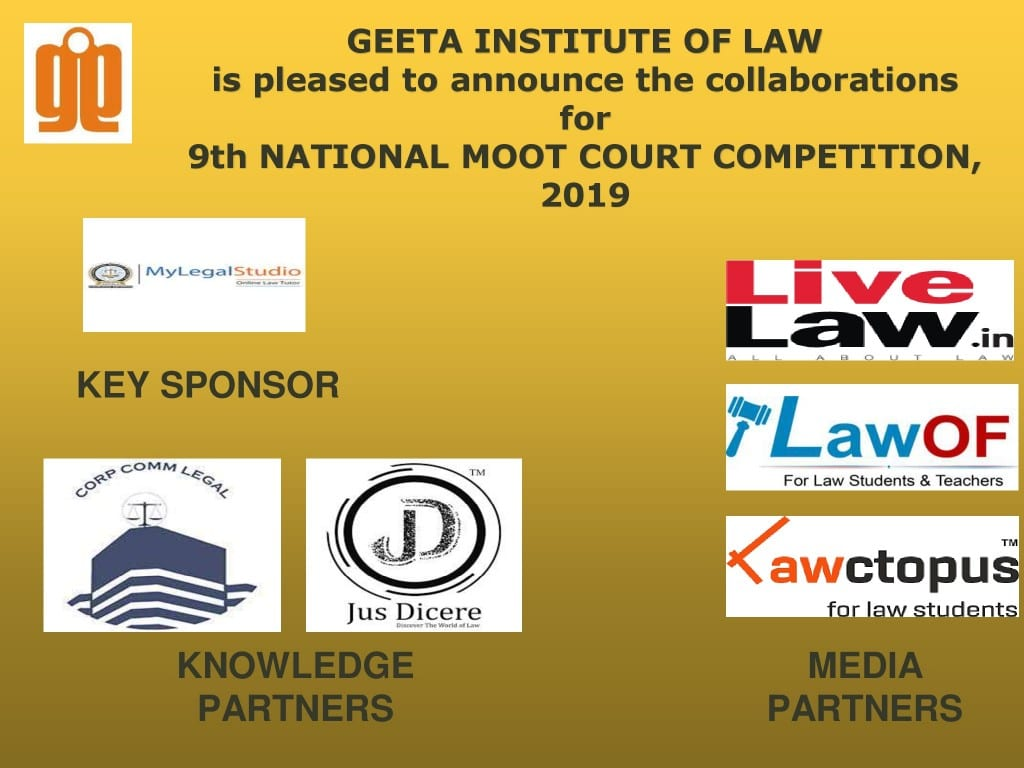 Geeta Institute of Law Moot 2019