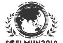 School of Excellence in Law Chennai MUN 2019