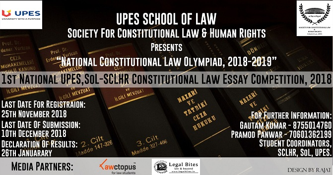 Constitutional Law Essay Competition UPES-SCLHR
