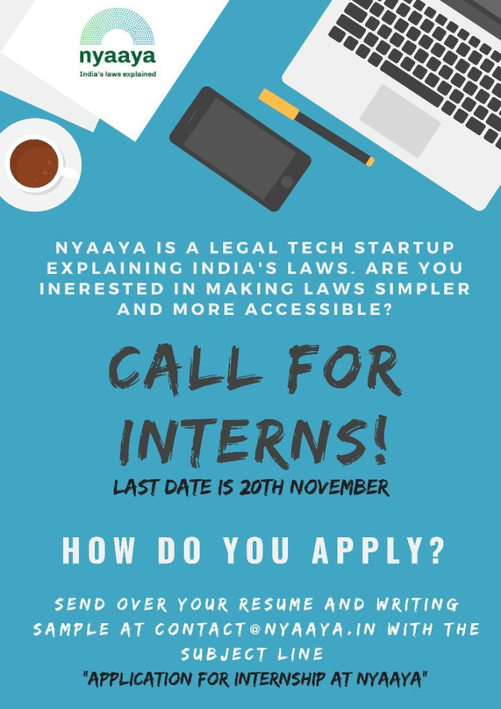 internship law students Nyaya Delhi