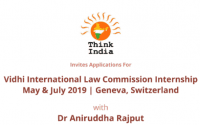 Think India Vidhi international law commission internship Geneva