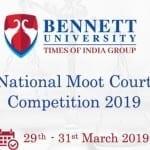 Bennett University Noida Moot court 2019