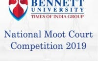 Bennett University Noida Moot court 2019