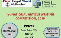 Article Writing competition ISL Legal