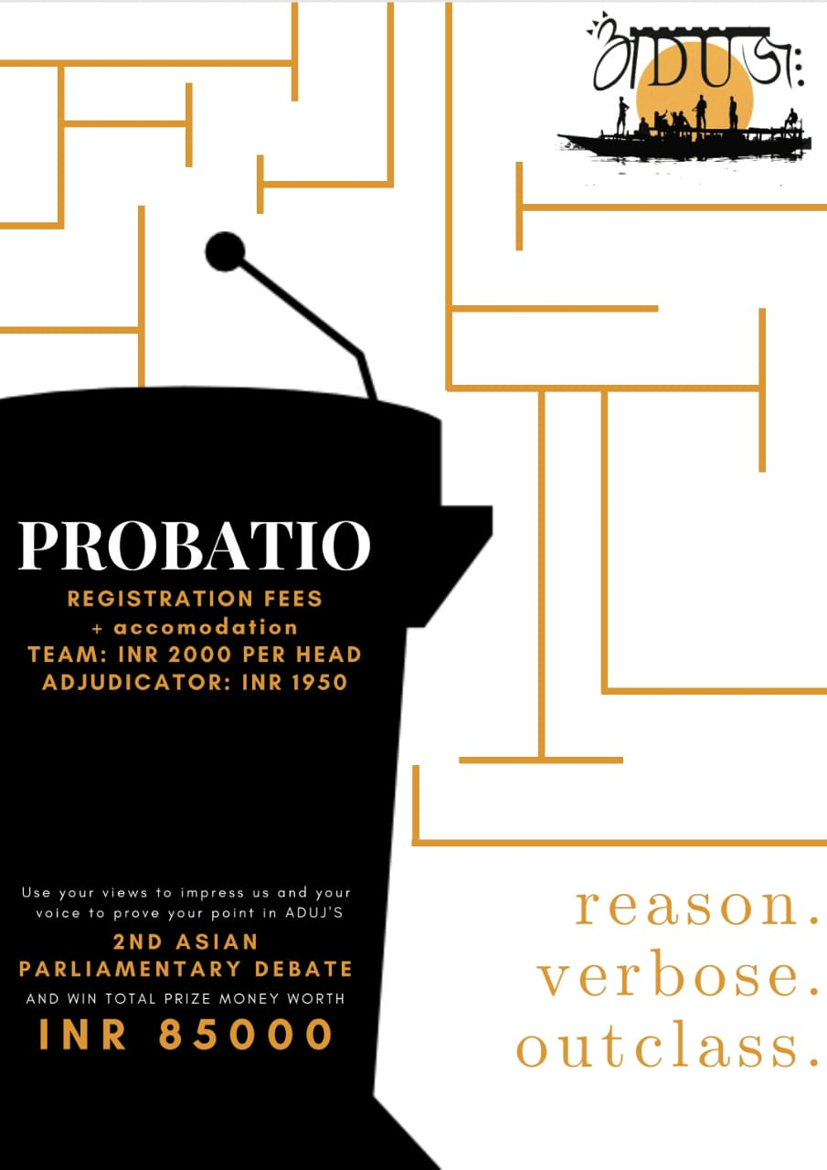 NLU Assam's Parliamentary Debate PROBATIO 2019 [April 26-28, Guwahati]: Registrations Open