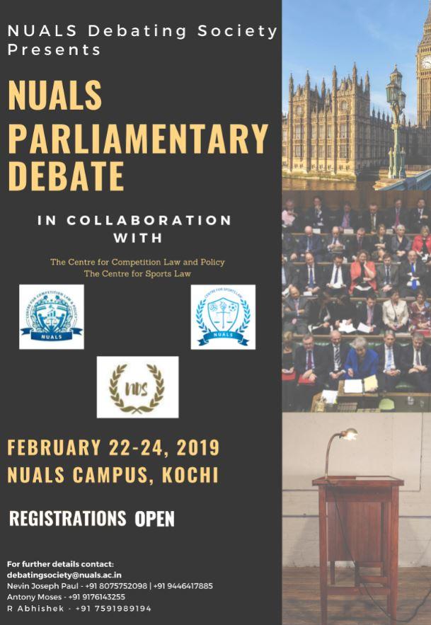 NUALS Parliamentary debate 2019