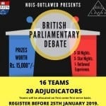 Outlawed Debate NUJS Kolkata 2019