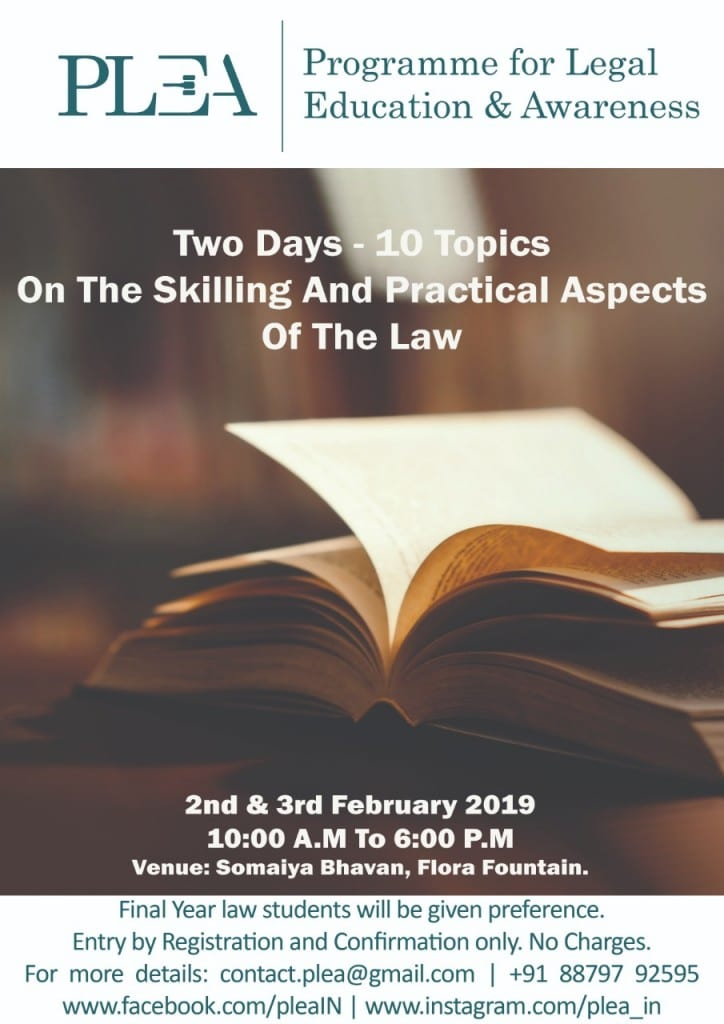 PLEA skilling and practical aspects of law