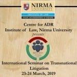 seminat transnational litigation ILNU ahmedabad