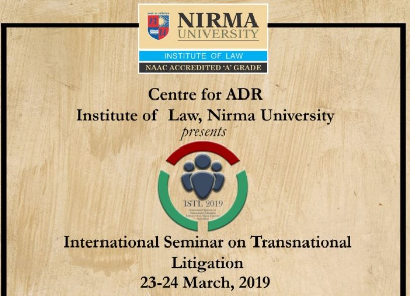 CfP: International Seminar on Transnational Litigation @ ILNU [March 23-24, Ahmedabad]: Submit by Jan 31