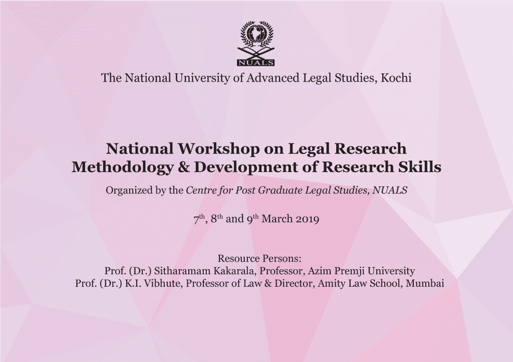 Workshop on Legal Research NUALS Kochi