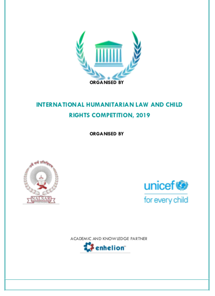 International Humanitarian Law and Child Rights Competition, 2019 by NALSAR and UNICEF [April 13-14]: Apply by March 8