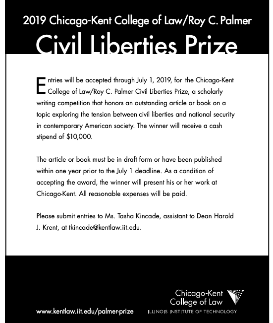 Chicago-Kent College of Law/Roy C. Palmer Civil Liberties Prize